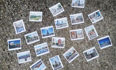 Visueel van project Paris confiné en 20 photos dans boîte cartonnée artisanale