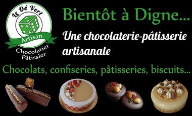 Visuel du projet Le Dé Vert : une chocolaterie-pâtisserie artisanale à Digne !