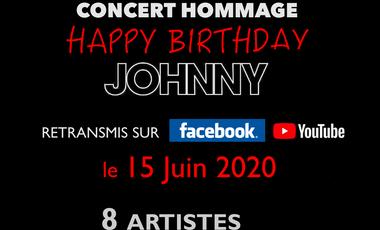 """Visueel van project Concert Hommage """"Happy Birthday Johnny"""" - Sans public -"""