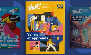 Visueel van project Chut ! le magazine du numérique au format papier
