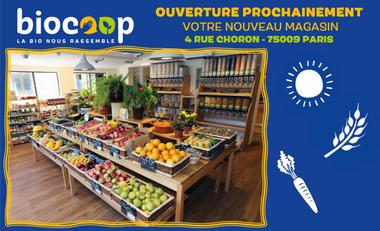 Visuel du projet Un Triporteur pour Votre Magasin BIOCOOP 4 rue Choron Paris 9