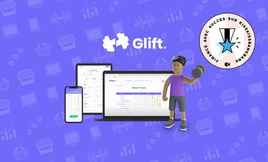 Visueel van project Glift, la solution pour gérer et suivre ses programmes de musculation