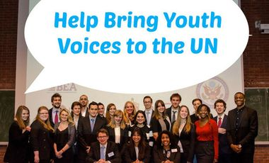 Visueel van project Help bring youth voices to the UN !