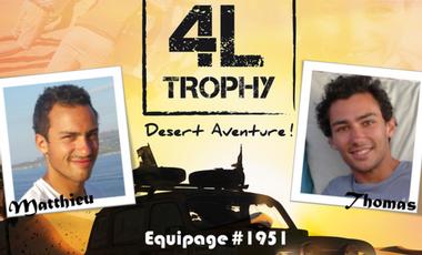 Visuel du projet Les Frères 4L - 4L Trophy 2014