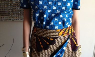 Visueel van project French Boubou - une collection capsule Made In France, l'imprimé africain trendy