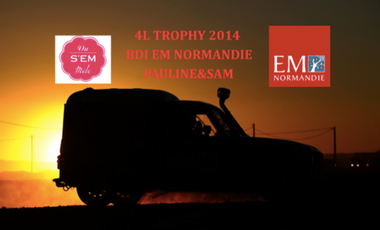 Project visual 4L Trophy 2014 BDI EM Normandie Pauline&Sam