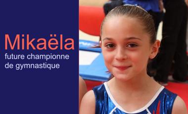 Visueel van project Mikaëla, future championne de gymnastique