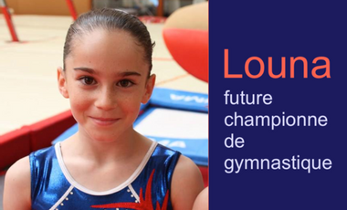 Visuel du projet Louna, future championne de gymnastique