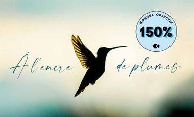 Visuel du projet A l'encre de plumes, le premier livre de Romain Dufau & Lucien Saubesty