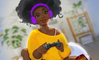 Visueel van project AFROGAMEUSES pour la place des femmes noires dans le secteur des jeux vidéos