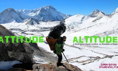 "Visueel van project ""Attitudes in Altitude"", les coulisses d'une expé."