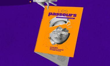 Project visual Les Passeurs, un magazine fablab pour imaginer la vie en montagne demain