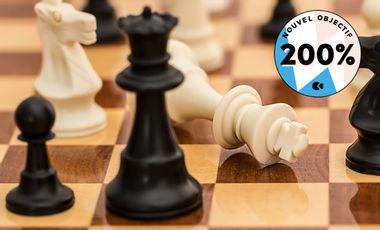 Visuel du projet Route 64, la revue francophone du jeu d'échecs pour aller hors des cases