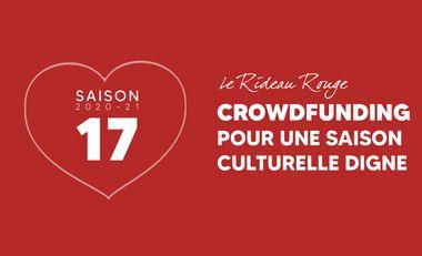 Project visual Crowdfunding pour la saison 17 du Rideau Rouge