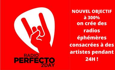 Visueel van project Radio Perfecto première Radio ROCK & BLUES au monde