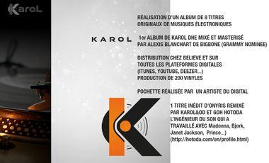 Visuel du projet Financement Album musique DJ Karol Dhe