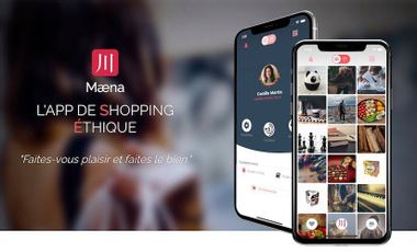 Visueel van project Mæna - App de shopping éthique