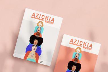 Visueel van project Azickia Magazine, notre premier magazine papier solidaire & 100% solutions