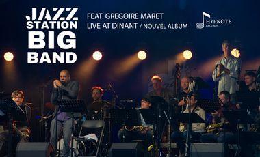 Visuel du projet The Jazz Station Big Band feat. Grégoire Maret - Album Live
