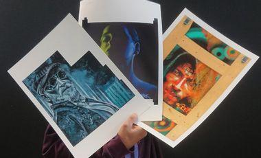 Visueel van project Idée cadeau, digigraphie de trois œuvres de IKSTÉ - édition limitée