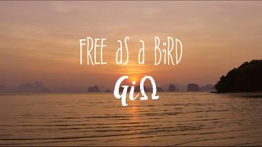 "Visueel van project First album ""Free as a bird"" from GiΩ"