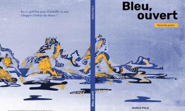 "Visueel van project ""Bleu, ouvert"", recel de poésie - Marco Polo"