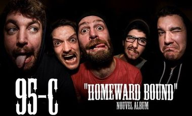 "Visueel van project 95-C ( punk rock ) nouvel album "" Homeward bound"""