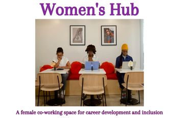 Visueel van project Women's Hub: A female co-working space for career development and inclusion