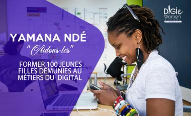 Visuel du projet Former 100 jeunes filles démunies aux métiers du DIGITAL
