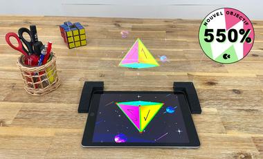 Visuel du projet Le jeu éducatif en hologrammes qui va vous faire aimer les maths ! ❤️