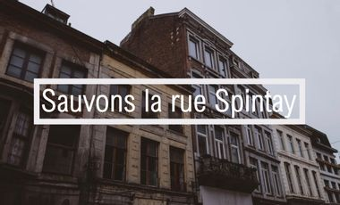 Project visual Sauvons la rue Spintay à Verviers