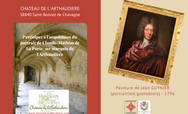 Project visual Portrait du 1er Marquis de l'Arthaudière : Claude-Mathias de La Porte (1696)