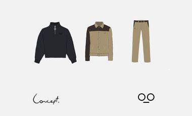 Project visual CONCEPT - collections de vêtements