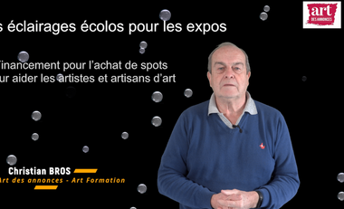 Project visual Des éclairages écolos pour les expos.