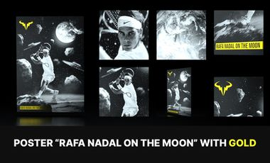 Project visual Poster Rafa Nadal on the moon