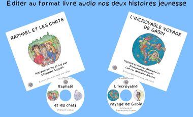 Project visual Édition de deux livres audio