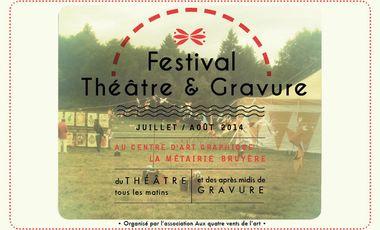 Project visual Festival Théâtre et Gravure