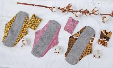 Project visual 1000 serviettes hygiéniques lavables pour lutter contre la précarité menstruelle