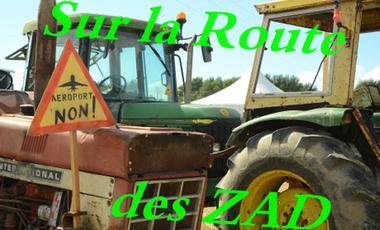 """Visueel van project Sur la route des """"Zones À Défendre"""""""