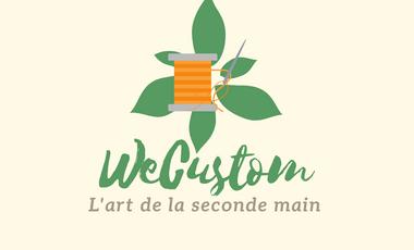 Visueel van project WECUSTOM est un projet de récupération d'ancien vêtements
