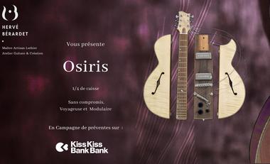 Visuel du projet Osiris, une création unique : Guitare de luthier Voyageuse et Modulaire !