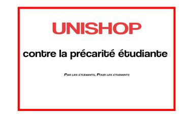 Visuel du projet UniShop : boutique associative universitaire contre la précarité étudiante