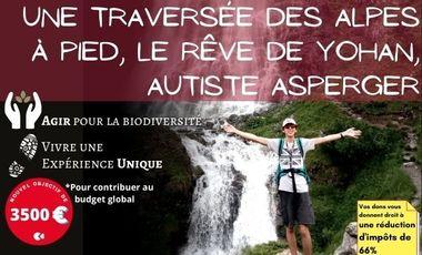 Visuel du projet Une traversée des Alpes à pied pour dépasser son handicap