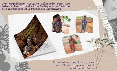 Project visual En faisant un don, vous achetez 1 livre et en donnez 5 à des écoliers du Bénin