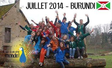 """Visuel du projet Burundi juillet 2014 """"vois la vie côté monde!"""""""