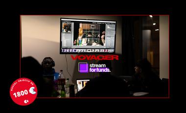 Visuel du projet Voyager, l'expérience créative et musicale par Stream For Funds.