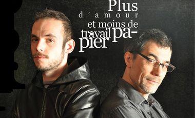 Project visual Plus d'amour et moins de travail papier : Livre+CD