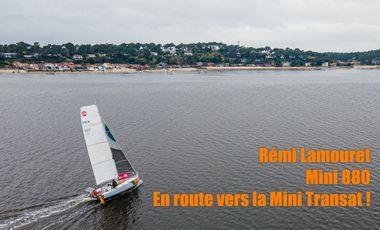 Project visual Rémi Lamouret, objectif mini transat 2021