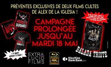 Visuel du projet Deux films cultes de Alex de la Iglesia en combo UHD/Blu-ray collector !