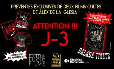 Visueel van project Deux films cultes de Alex de la Iglesia en combo UHD/Blu-ray collector !